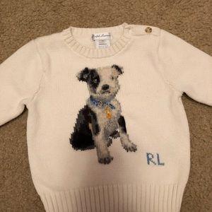 Ralph Lauren Baby Dog Sweater